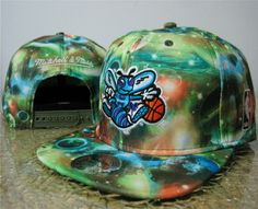 32c353b7e0ada NBA Mitchell And Ness Galaxy Charlotte Hornets Snapback Hats 219 8999