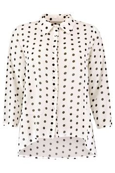 Marsa All Over Spot Woven Dipped Back Shirt alternative image