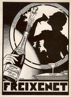"Freixenet sparkling wine advertising circa 1929.  www.LiquorList.com ""The Marketplace for Adults with Taste!"" @LiquorListcom   #LiquorList.com"
