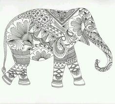 Free Elephant Mandala Coloring Pages Coloring Pinterest