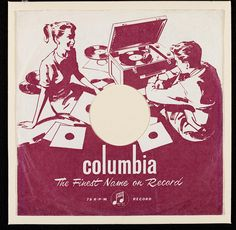 Vintage Columbia Records sleeve 1959. Line block printed.  Victoria & Albert Museum: The Collections. Pop Art