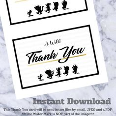 Where the wild things are Thank You Cards Birthday Baby Shower Printable in JPG & PDF *Non Customizable** by MiasOffice on Etsy