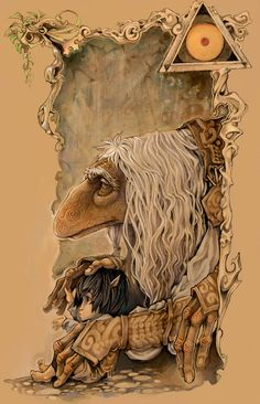 The Dark Crystal: Fairy tale movie art from Jim Henson and Dark Crystal Movie, The Dark Crystal, Magical Creatures, Fantasy Creatures, Fantasy Kunst, Fantasy Art, Brian Froud, Kobold, Fraggle Rock