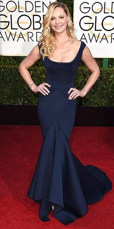 Presenter KatherineHeigl in #ZacPosen at the 2015 #GoldenGlobes.