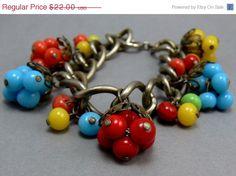 Vintage Cha Cha Beaded Bracelet by jujubee1 on Etsy, $18.70