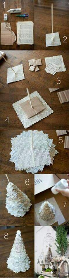 Un albero da fare con la carta riciclata