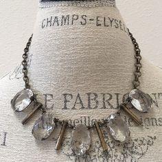 J. Crew Necklace Dark brass with crystals. J. Crew Jewelry Necklaces