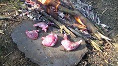 Primitive Stone Cooking Squirrel