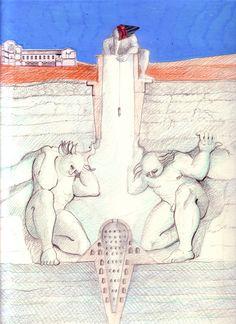 1987_88 GE_SS.GIAFILI  1987_88.3_carta lucesa cm. 33 x 24 by Brunetto De Batté