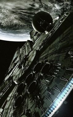 The Millenium Falcon from Star Wars, awesomely rendered.