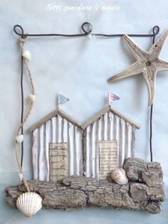 20 Adorable Summer Decor Ideas To Kick The Winter Blash Sea Crafts, Seashell Crafts, Diy And Crafts, Driftwood Projects, Driftwood Art, Summer Decoration, Sea Decoration, Deco Marine, Style Deco