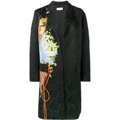 Dries Van Noten - rolt floral brocade coat - women - Cotton/Viscose -... (21.505 ARS) ❤ liked on Polyvore featuring outerwear, coats, black, dries van noten, cotton coat, floral print coat, floral coats and brocade coat