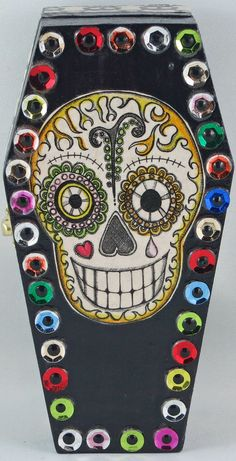 Dia de los Muertos Coffin box / Day of the Dead by CreepyChristine
