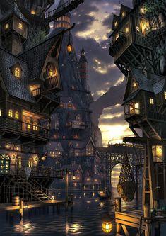 Epic fantasy art dump! Fantasy landscape Fantasy city Fantasy art