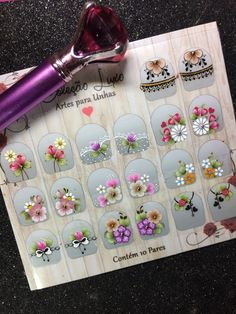 Fashion Videos, Pedicure, Nail Designs, Nail Art, Stickers, Handmade, Embroidery, Colorful Nails, Home Salon