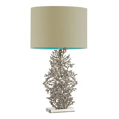 Heathfield & Co Atolli Table Lamp - Ivory Satin Shade/Baltic Lining