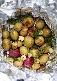 New Potatoes with Old Bay and Dill