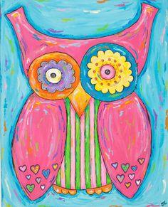 'Pink Owl' by Jaime Lyon