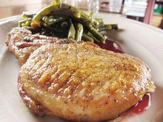 Pork Chop with Apple-Cran Gastrique - unique eats-  Butcher Bar