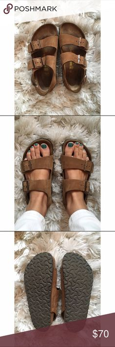 Milano Birkenstock Like new!! I love these, but they're a size too small for me. Tobacco color Birkenstock Shoes Sandals