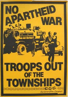 Apartheid (detainees, ANC, UDF, End conscription campaign 152 End of conscription Campaign West Africa, South Africa, Pamphlet Design, Apartheid, Political Art, St Helena, My Land, African History, World History