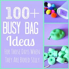100+ Busy Bag Ideas - for those days when your kids are bored silly! SixSisterStuff.com