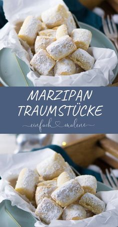These marzipan dream pieces are addictive - tender melting & so delicious. - These marzipan dream pieces are addictive – tender melting & so delicious. Look like dream pieces - Easy Cookie Recipes, Cake Recipes, Dessert Recipes, Meat Recipes, Cookies Et Biscuits, Cake Cookies, Brownie Cookies, Clean Eating Recipes, Clean Eating Snacks