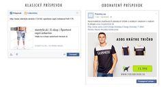 Propagácia eshopu na Facebooku Capri, Asos, Shopping