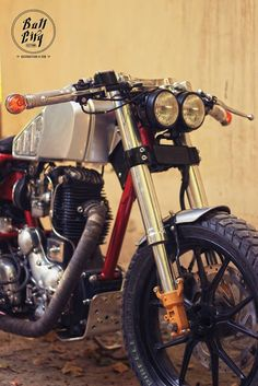 Cafe Racer Pasión-Royal Enfield Cafe Racer by Bull City Customs