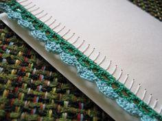 crochet edged card
