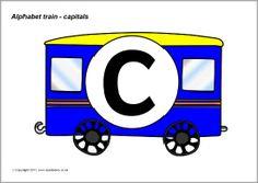 Alphabet train - capitals (SB3968) - SparkleBox
