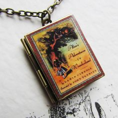 A cute dainty Alice in wonderland inspired book locket. comes on a bronze tone chain that measures Look great for any occasion and would make the perfect gift for those with a wonderful imagination. Each item comes tastefully gift boxed Alice Book, Book Lovers, Alice In Wonderland, Fairy Tales, Fancy, Books, Gifts, Jewelry, Magazines