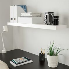 IKEA - LACK, Wall shelf, white, The shelf becomes one with the wall thanks to the concealed mounting hardware. Hidden suspension brackets are included. load 15 kg lb) depending on type of wall and fastening. Screws for wall mounting are not included. Ikea Lack Shelves, Lack Shelf, Wall Shelves, Ikea Floating Shelves, Mounted Shelves, Interior Design Books, Interior Design Software, Prateleiras Lack Ikea, Cube Ikea