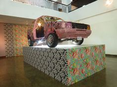 "Jamaican artist, Ebony G. Patterson's ""Cultural Soliloquy (Cultural Object Revisited)"" (2010)"