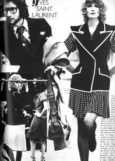 1971- Yves Saint Laurent collection by Helmut Newton for Vogue