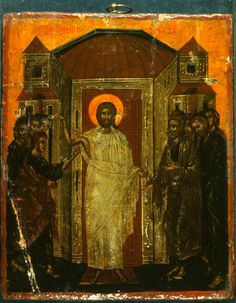 Incredulity of Thomas · The Sinai Icon Collection Byzantine Icons, Byzantine Art, Christ Is Risen, Life Of Christ, Russian Icons, Religious Paintings, Russian Painting, Icon Collection, Art Icon