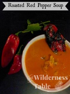 Roasted Red Pepper Soup - The Wilderness Table #camping #recipe #delicious