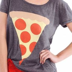 """Wildfox hot slice pizza tee t-shirt dirty black S Italy is for lovers. And pizza. Wear a hot slice on this classic tee. In dirty black. Half cotton half polyester. Bust across 17"""" length 25"""" Wildfox Tops Tees - Short Sleeve"""