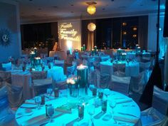 First Choice Entertainment at Orion Ballroom  Blue wedding light effects  Dallas Fort Worth DFW