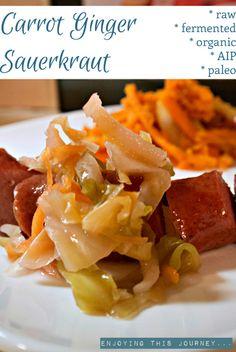 Ginger Carrot Sauerkraut