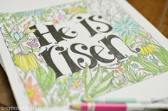 """He is Risen"" Doodle Coloring Page at U Create"