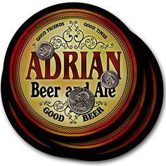 Adrian Beer & Ale - 4 pack Drink Coasters ZuWEE…