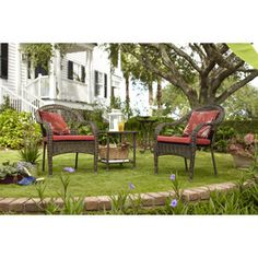 Garden Treasures Severson Steel Patio Conversation Chair At Lowes