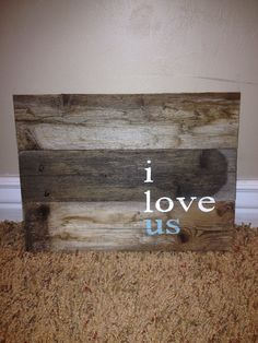 Reclaimed wood/barn wood wall decoration sign by perfectpallet