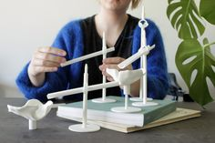Antelope 3D printed marble run. Made by Frøya Thue, Danee Feng and Andreea Tecusan. Oslo School of Architecture and Design.
