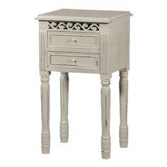 Belgravia 2 Drawer Bedside Table - Grey