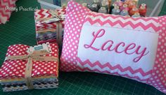New Pieced & Personalised Cushion - http://www.clothncraft.com.au/prettypractical/new-pieced-personalised-cushion/