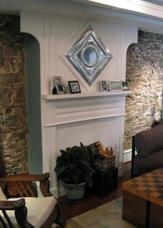Add height to a room by extending the mantel with these step-by-step instructions from HGTV.com. >> http://www.hgtv.com/design/decorating/design-101/how-to-build-an-extended-fireplace-mantel?soc=pinterest