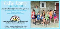 Kid's Camp! July 21-25, 2014 Spaces still available.