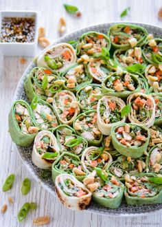 Asian Thai Peanut Chicken wraps with spicy chili-lime peanut sauce.. Friends, even saying this make me drool! I love adding peanuts in lot of savory preparations. The sweetness of peanut goes very...